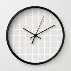 Grid (White/Platinum) Wall Clock
