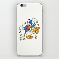 donald duck iPhone & iPod Skins featuring Funny Angry Donald Duck by Yuliya L