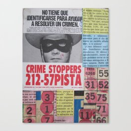 Crime Stoppers Canvas Print