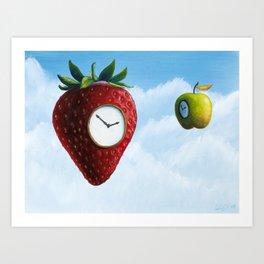 D (StrawberryClock's Dream) Art Print