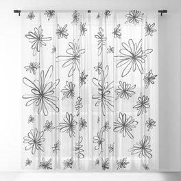 Energy Flowers Sheer Curtain