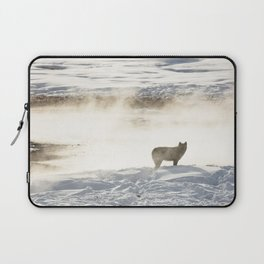 Yellowstone National Park - Wolf and Hot Spring Laptop Sleeve