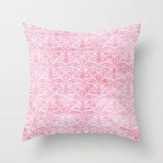 Shabby Damask Throw Pillow