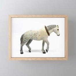 Wooden Plow Horse Framed Mini Art Print