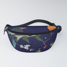 Birds, Berries and Flowers Fanny Pack