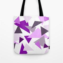 Triangel Design purple violet pink Tote Bag