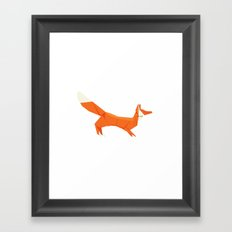 Origami Fox Framed Art Print