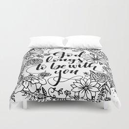 Floral Lettering Duvet Cover