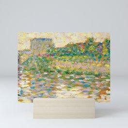 "Georges Seurat ""The Seine at Courbevoie"" Mini Art Print"