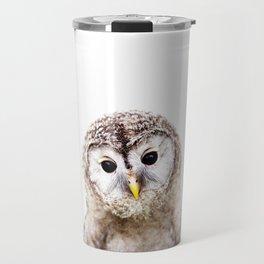 Baby Owl, Baby Animals Art Print By Synplus Travel Mug