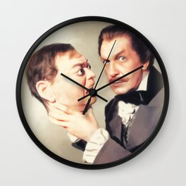 Vincent Price with the Head of Peter Lorre Wall Clock