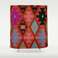 bohemian Shower Curtains featuring bohemian by spinL
