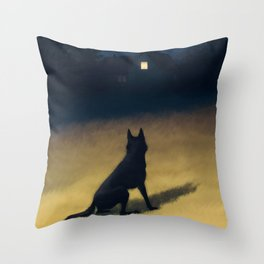 Night in the Hills Throw Pillow