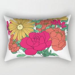 Bright Color Flower Bouquet Rectangular Pillow