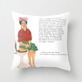 Frida Khalo Throw Pillow