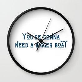 A Bigger Boat Wall Clock