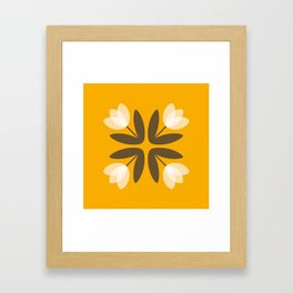 Tulips from Amsterdam in Mustard Yellow Framed Art Print