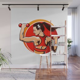 woman fitness Wall Mural