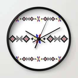 romanian folk motifs Wall Clock