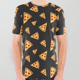 Cool and fun pizza slices pattern All Over Graphic Tee