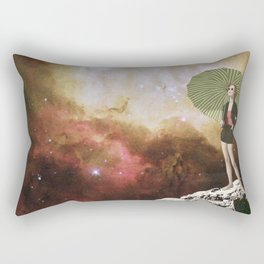 Lady in Space I Rectangular Pillow