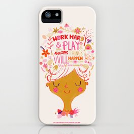 Work hard and Play iPhone Case