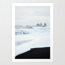 Black Sand Beach in Iceland Art Print