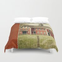 american beauty Duvet Covers featuring Americana by Farmhouse Chic