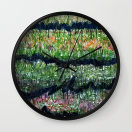 Humid Meadow with Wildflowers Wall Clock