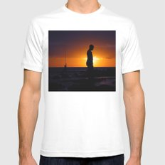 The empty world (Flic en Flac)  MEDIUM Mens Fitted Tee White