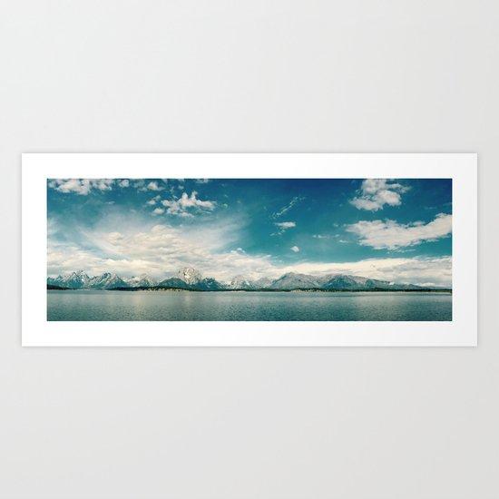 Nautical Tetons Art Print