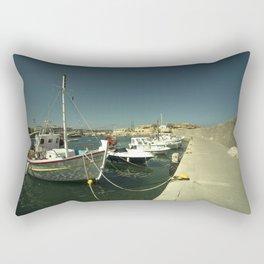 Hersonissos Harbour Rectangular Pillow