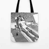 apollonia Tote Bags featuring asc 614 - Le blues de janvier (HIM)  Second version by From Apollonia with Love