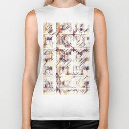 Homage to Kandinsky, with Watercolors Biker Tank