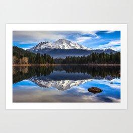 Mount Shasta Morning Reflection Art Print