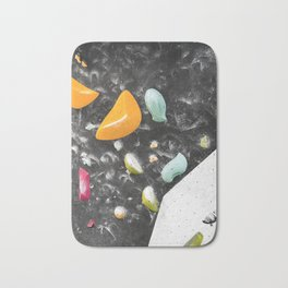 Colorful summer bouldering gym wall climbing holds girls Bath Mat