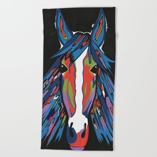 Spirited Horse Beach Towel