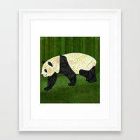 panda Framed Art Prints featuring Panda by Ben Geiger
