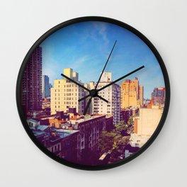 Morning in NYC Wall Clock