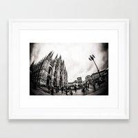 milan Framed Art Prints featuring Milan by carotraitler