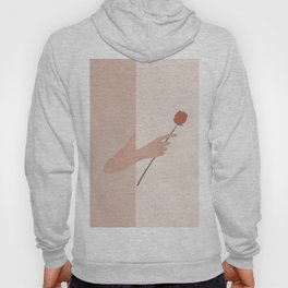 One Rose Flower Hoody