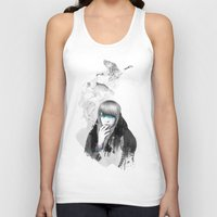 lady gaga Tank Tops featuring Swan Love by Ariana Perez