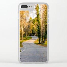 Strada del Monte Tomba Clear iPhone Case
