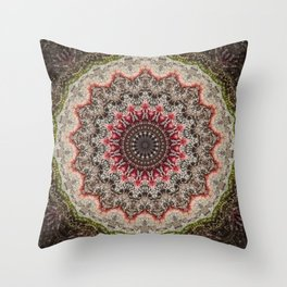 Trichome Crystal Portal Throw Pillow