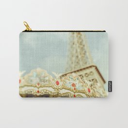 Eiffel Tower & Carousel photography paris Carry-All Pouch
