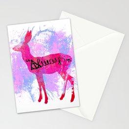 Pink Deer Stationery Cards