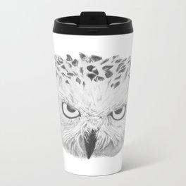 Snowy Owl Metal Travel Mug