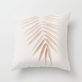 Palm Leaf Finesse #1 #minimal #tropical #decor #art #society6 Throw Pillow
