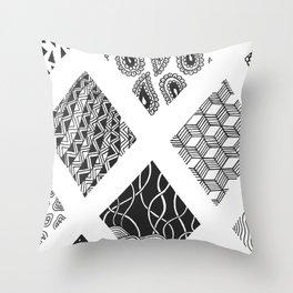 Diamond Zentangles Throw Pillow