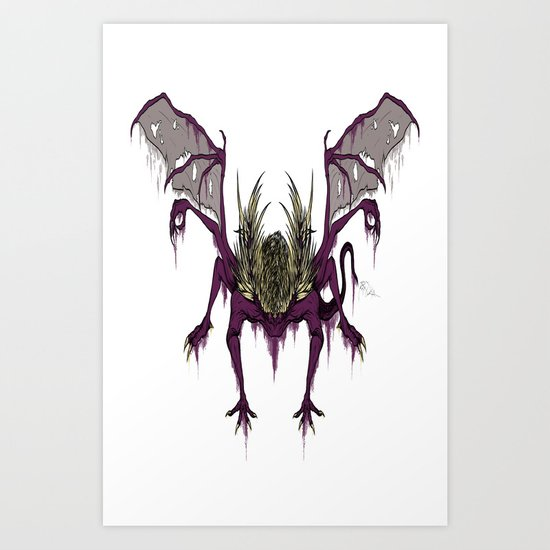Gaping Dragon (Dark Souls) Art Print